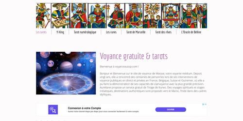 Un site d'astrologie santé mobile