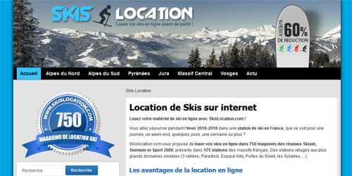 Votre plateforme de location de skis sur internet